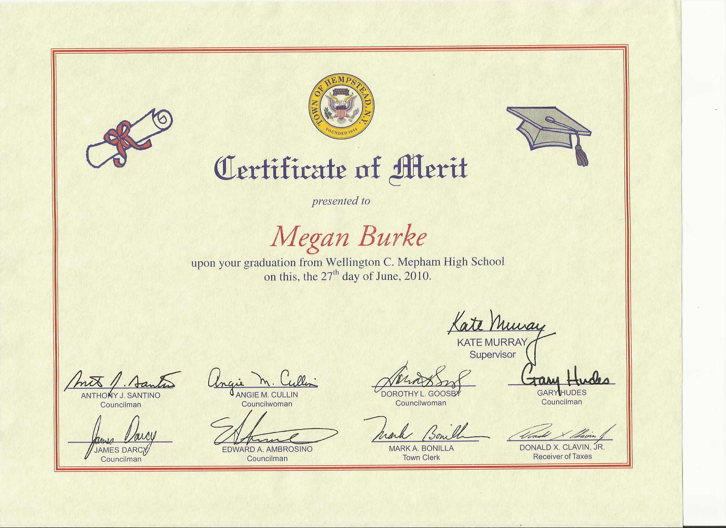 L Honors and Awards Pace University ePortfolio – Merit Certificate Comments