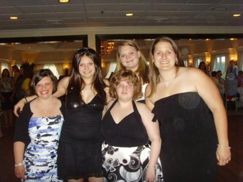 Some members of the Buddy's Club at Masuk High School's Senior Banquet