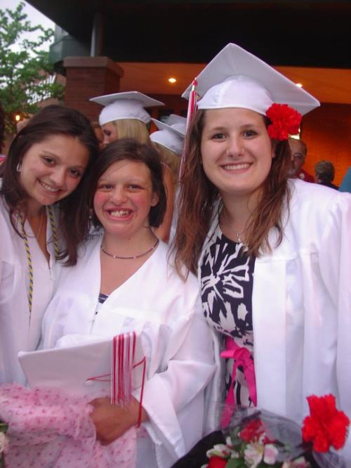 Deandra, Michelle, and myself at our high school graduation