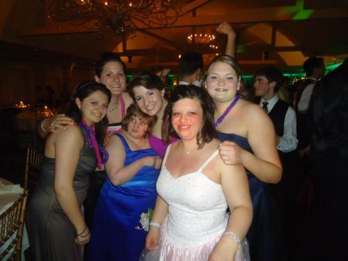 Some members of the Buddy's Club at senior prom