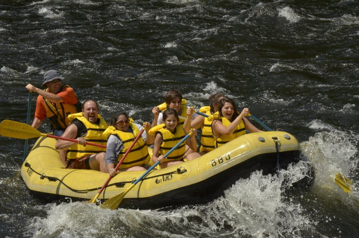 White water rafting with the family, Summer 2011