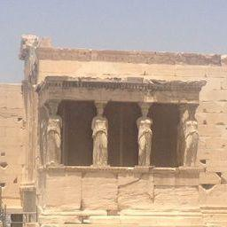 The Caryatids on the Erechtheion atop the Acropolis