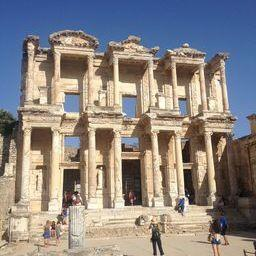 Library of Celsus in Ephesus. It is the third largest library in the Ancient World, and the only one still standing today.