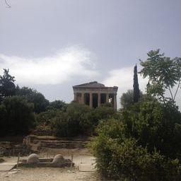 Temple of Hephaestus. This is the only Ancient Greek Temple with the roof still intact.