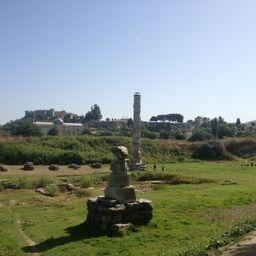 The Temple of Artemis. Is one of the Seven Wonders of the Ancient World, but only one column exists today.