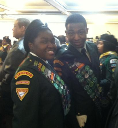 A friend and fellow graduate of the Master Guide program and I, after the graduation ceremony.