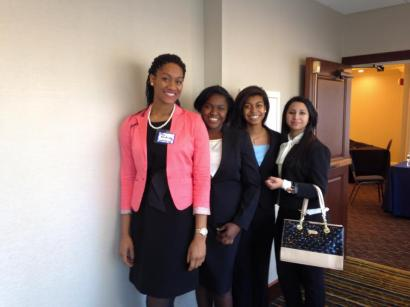 Myself and some fellow INROADS students at the Internship Fair in January.