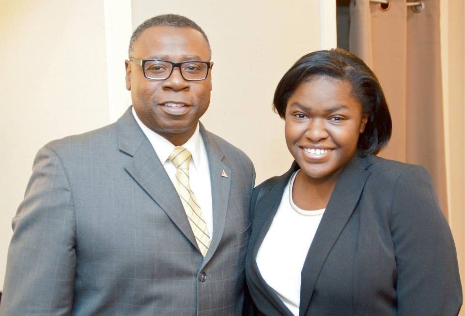 Myself and the Regional Director of INROADS, Donald McAuly. INROADS is an internship and job placement program for minority students.