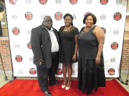 My proud parents, Janet and Steve, supported me by attending the Black Student Union's Black Excellence Dinner