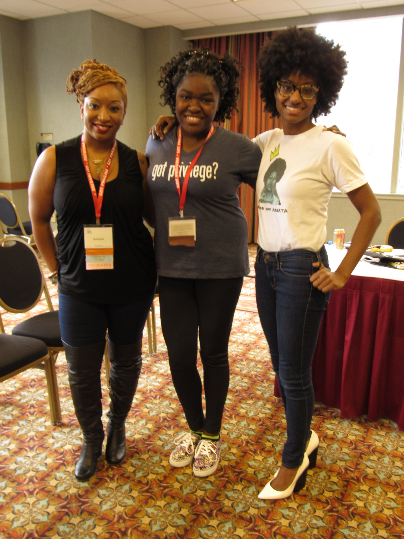 Here I am with the presenters of a workshop I attended at the National White Privilege Conference in March 2015