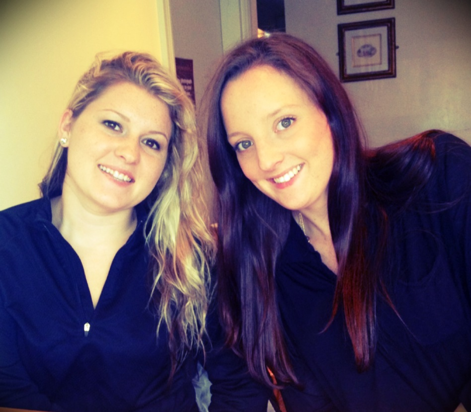 My sister & I in Listowel, Ireland